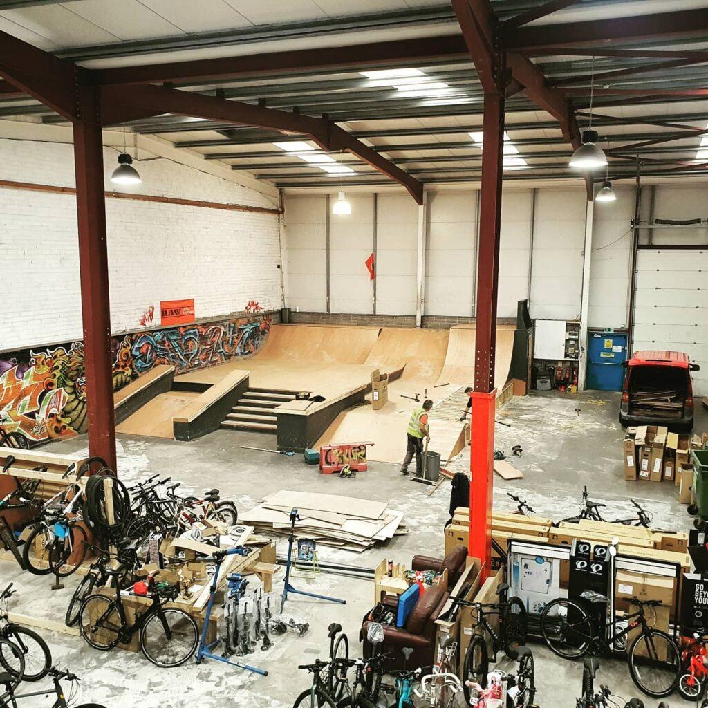 RAW Cycles skate park
